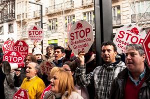 Una de las protestas de Stop Desahucios.