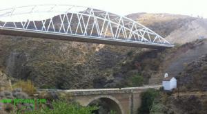 Puente de Tablate, donde se produjo la muerte de la joven.