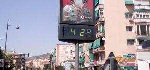 En agosto la temperatura máxima en Granada llegó a los 42º.