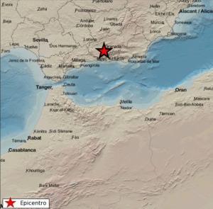 El terremoto se ha registrado a las 2.49 horas.