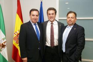 En la imagen, de izda a dcha, Javier de Teresa, Jorge Fernández y Fidel Fernández.