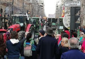 Un momento de la manifestación.