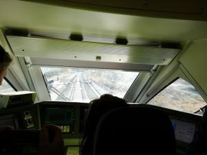 Viaje en pruebas del tren Séneca el pasado septiembre.