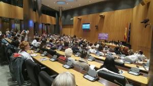 Tribunal de mujeres celebrado este viernes en el Congreso de los Diputados.