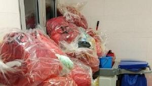 Residuos sanitarios en un hospital.