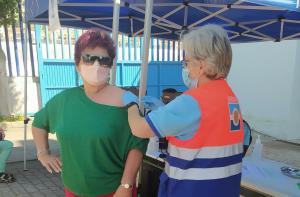 Imagen de archivo de la vacunación en Almuñécar.