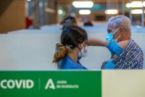 imagen de un punto de vacunación en Andalucía.