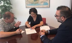 Reunión con la directora del distrito sanitario Metropolitano.