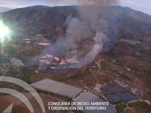 Imagen tomada desde uno de los helicópteros