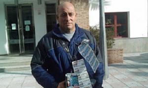Miguel Ángel Vázquez, vendedor de la ONCE, en una imagen de archivo.
