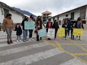 Detalle de la concentración de este lunes en el CPR Los Castaños de Ventas de Zafarraya.