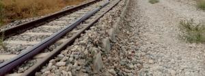 Vías del tren vacías, lo que ocurre en la provincia de Granada desde hace 654 días.