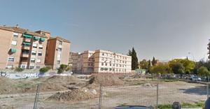 Recinto de excavaciones de la villa romana en la calle Primavera.