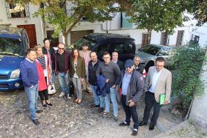 Ediles del PP en una visita al Albaicín.
