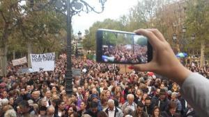 Multitudinaria concentración del 5 de noviembre.