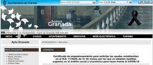 Captura de la web municipal donde realizar el trámite.