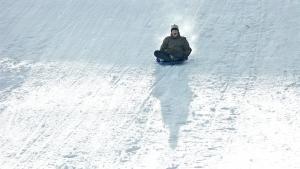 Los pequeños trineos de nieve se han puesto de moda.