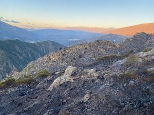 Vista de parte de la zona calcinada.