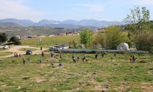 Trabajos de restauración en el Parque de las Canteras.