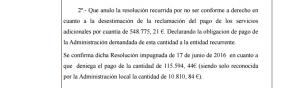 Detalle de la sentencia del Juzgado de lo Contencioso Administrativo número 2.