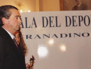 Nono Hidalgo, en una de las galas del deporte de Granada.