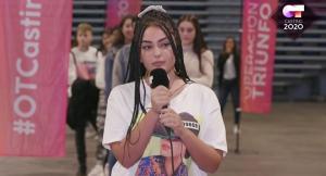 Violeta Hódar Feixas, en uno de los castings.