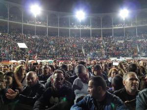 La Plaza de Toros, repleta de fieles de 091.