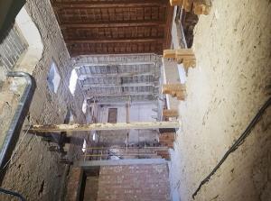 Obras en la  planta baja de la Abadía.