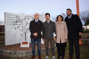 Inauguración del monumento dedicado a Lorca en Sarandí Grande.