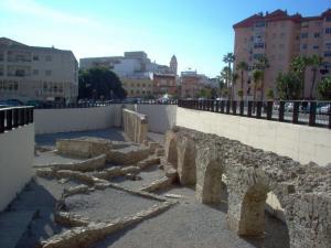 Acueducto romano de La Carrera, en Almuñécar.
