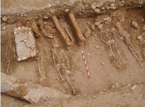 Imagen de uno de los enterramientos.