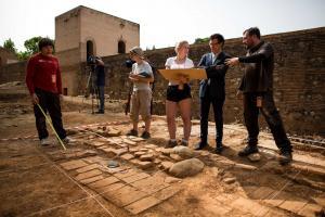 El director de la Alhambra ha visitado este jueves los trabajos.