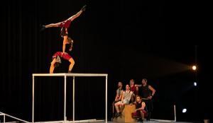 El espectáculo muestra acrobacias de gran precisión.