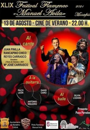 Cartel de la 49 edición del Festival Flamenco Manuel Ávila de Montefrío.