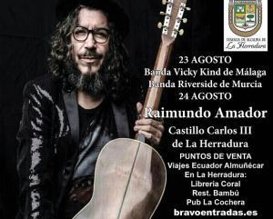 Raimundo Amador actuará el 24 de agosto.