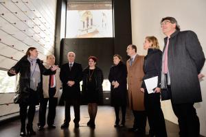 Representantes del Consorcio, en una visita al edificio.