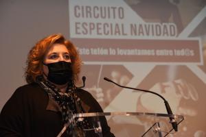 Fátima Gómez presenta el Circuito de Navidad.
