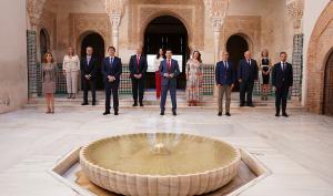 Juan Manuel Moreno ha presidido en la Alhambra la reunión semanal del Consejo de Gobierno de la Junta.