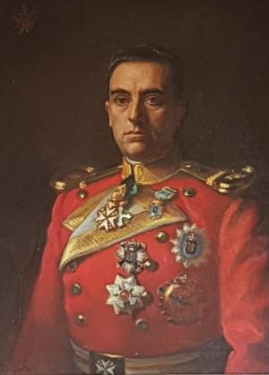 Manuel Martínez-Carrasco, ataviado como caballero dela orden de Malta, en un óleo que luce en el Colegio de Bolonia.