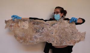 Los trabajos de restauración se llevan a cabo en el Museo Arqueológico.