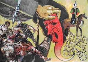 Interpretación de la Batalla de Lepanto, de Óscar Seco.
