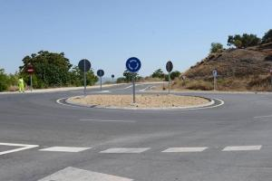 Nueva rotonda que mejora el acceso a la Villa Romana de Salar.
