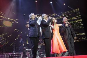 Un momento del primer concierto de la gira, en Madrid.