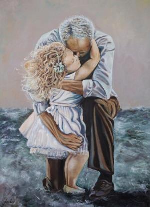 'El abrazo necesario', una de las obras expuestas.