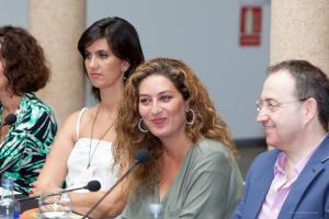 Estrella Morente en la rueda de prensa de presentación de La guerra de las mujeres.