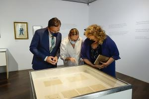 Laura García Lorca con Luis Salvador y Fátima Gómez.