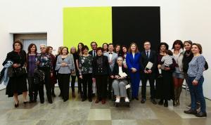 Artistas que participan en la exposición 'La Alhambra interpretada: sonidos, imágenes y palabras'.