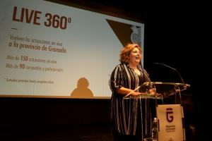 Fátima Gómez, en la presentación de la iniciativa.