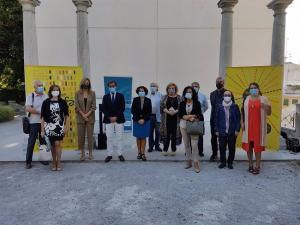 Acto con los organizadores de la Feria del Libro, en imagen de archivo.