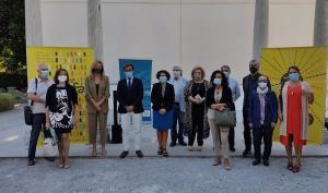 Representantes de las instituciones organizadoras de la feria del Libro.